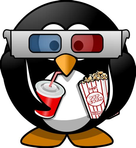 Squishy Popcorn Cinema Bioskop Jagung vektor ilustrasi bioskop penil penguin domain publik