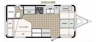 20 Foot Travel Trailer Floor Plans 2500 Series Travel Trailers Bigfoot Rv Truck Campers