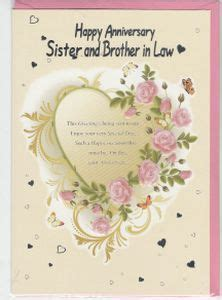 1st wedding anniversary gift for sister anniversaries sister and brother in law cards and