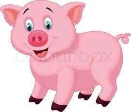Toy Barn And Farm Animals Vector Illustration Of Cute Pig Cartoon Vector Colourbox