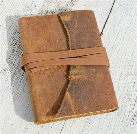 Handmade Leather Bound Journal - custom made handmade leather bound outlaw mexico bandit