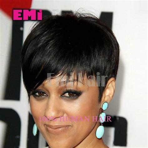 pixie cut wigs for black hair pixie cut brazilian human hair black short wigs african