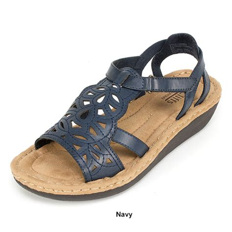 cliffs white mountain sandals cliffs by white mountain chambray comfort sandals boscov s