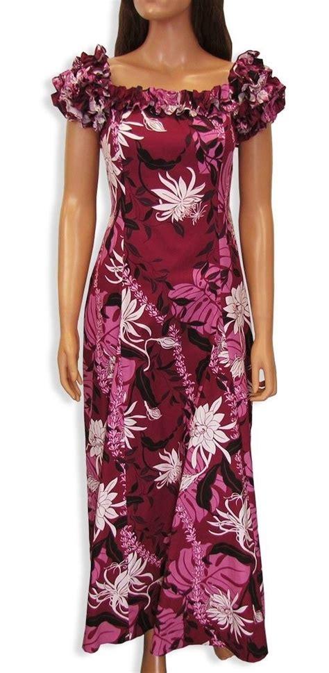 formal hawaiian dress muumuu sz xs 2xl makapu hawaii moomoo island dress purple muumuu