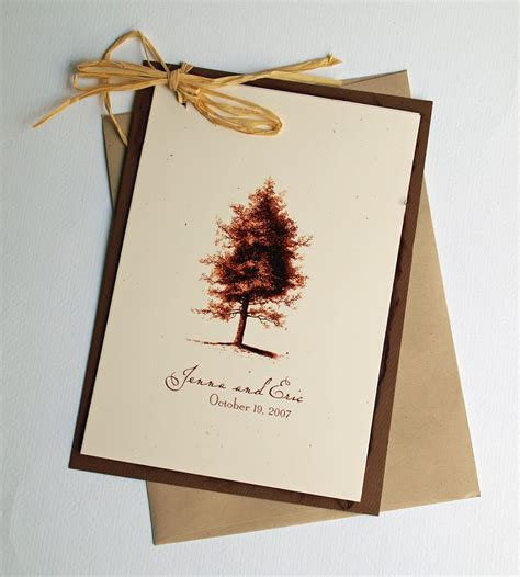 rustic wedding invitation vintage tree by ericksondesign on etsy