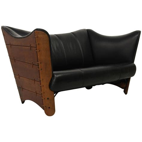 Pacific Green Palmwood And Leather Cayenne Sofa Loveseat