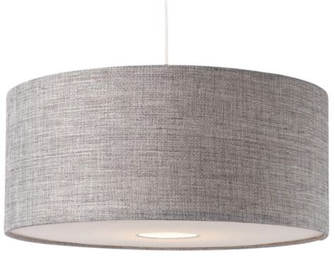 Drum L Shade With Diffuser by Bnwt Modern Grey Textured Large Drum Diffuser Ceiling