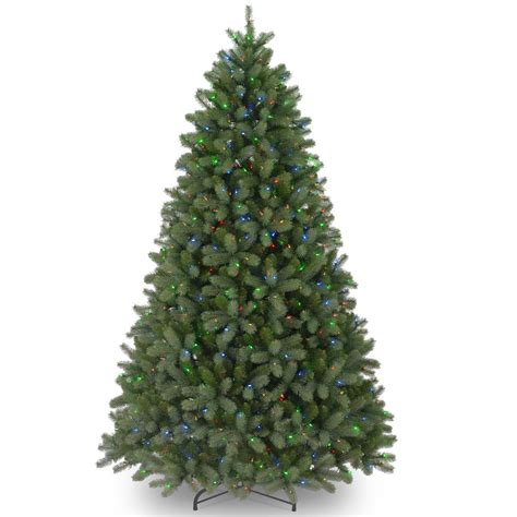 home depot real christmas tree prices 12 ft feel real downswept douglas fir artificial tree with 1200 multi color lights