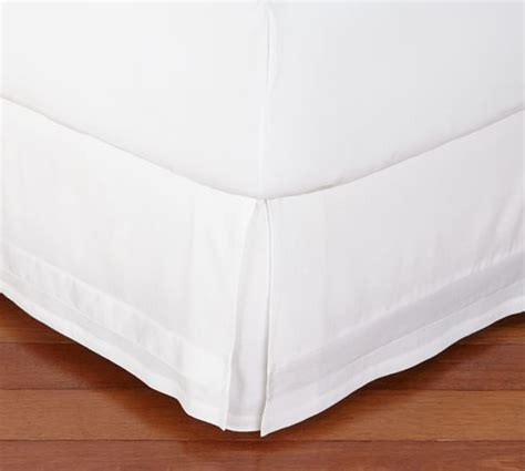 Pottery Barn Bed Skirts by Linen With Silk Trim Bed Skirt Pottery Barn