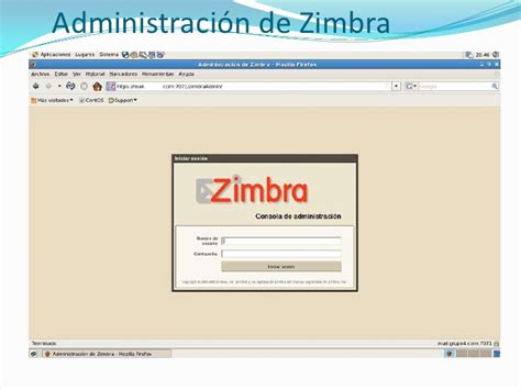 zimbra administration tutorial configuracion del zimbra