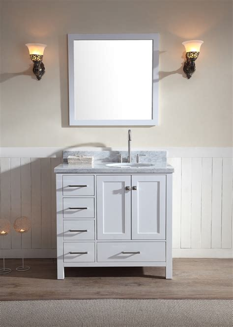 226 cambridge 37 inch single sink vanity set with right