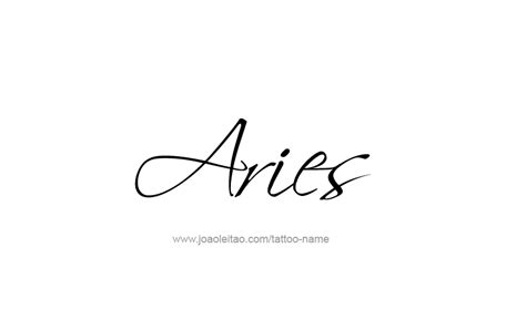 tattoo fonts zodiac signs aries horoscope name designs aries horoscope