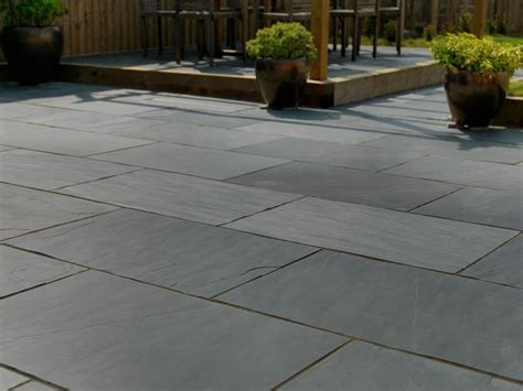 pavestone midnight slate patio slate slate