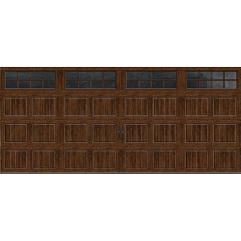 Clopay Gallery Collection 16 Ft X 7 Ft 6 5 R Value Garage Doors Home Depot
