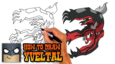 learn how to draw yveltal from pokemon pokemon step by how to draw yveltal pokemon youtube