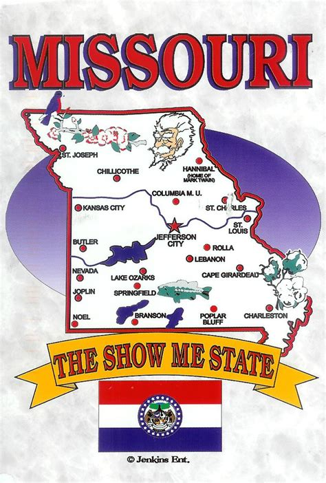 missouri on a map of the usa usa missouri remembering letters and postcards