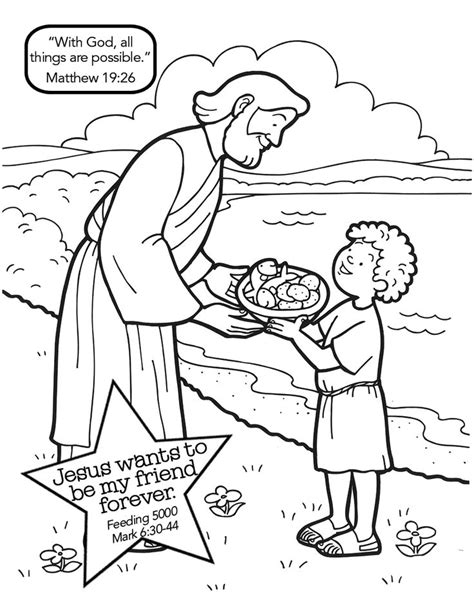 Bible Coloring Page Feeding 5000 by 1000 Images About Jesus Feeds The 5 000 On