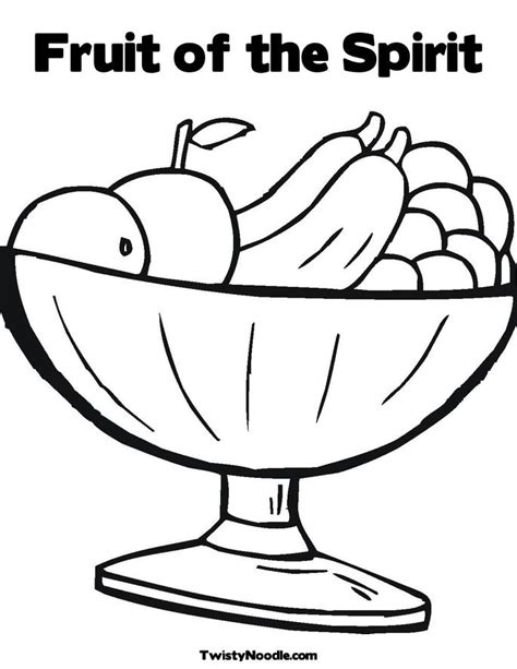 fruit of the spirit coloring pages coloring home