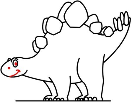 How To Draw A Stegosaurus Easy