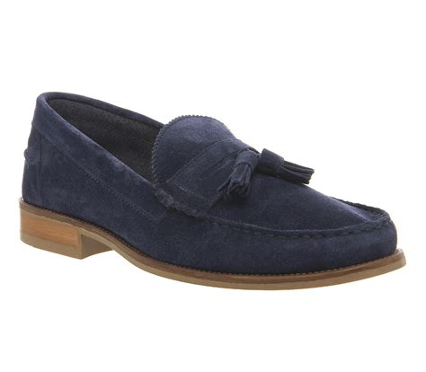 mens navy tassel loafers mens ask the missus bonjourno tassel loafers navy suede