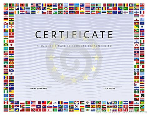 certificate template canada certificate template with world flags icons as border