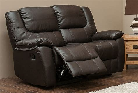 2 Seater Reclining Leather Sofa by Harvey Reclining 2 Seater Leather Sofa Espresso Brown