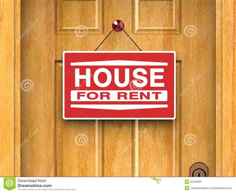house for rent real estate house for rent real estate home door advertise stock illustration illustration