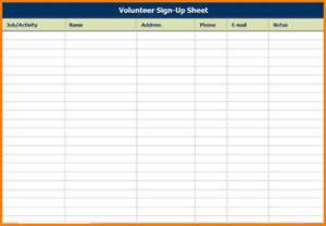 Event Sign Up Sheet Template by Search Results For Sign In Sheet Printable Template