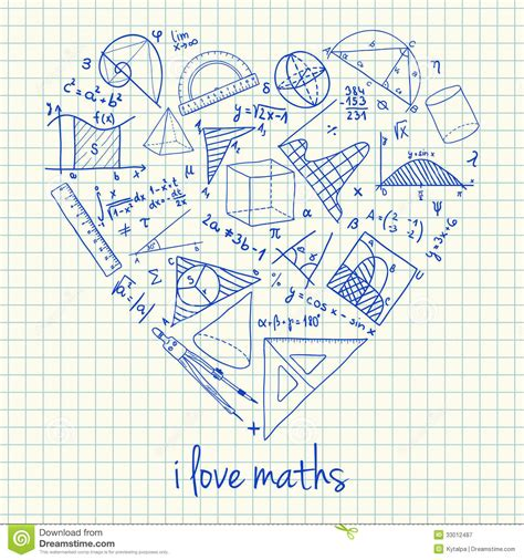 how to doodle in math maths drawings in shape stock illustration