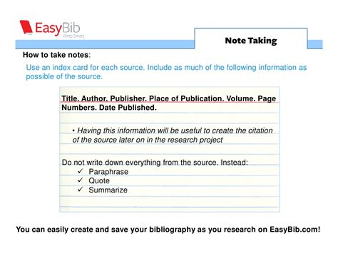 research note card slide template research guide note taking 5