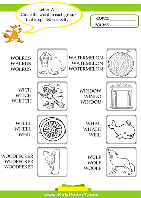 4 Letter Words Starting With W free words begin with w coloring pages