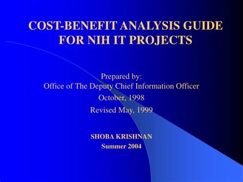 ppt cost benefit analysis guide for nih it projects