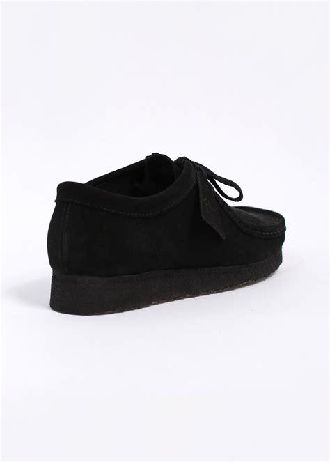 clarks originals wallabee suede shoes black