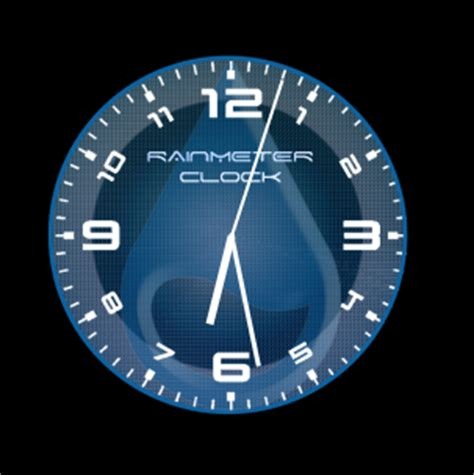 rainmeter themes clock rainmeter blue clock 3 2 2 by xordes on deviantart