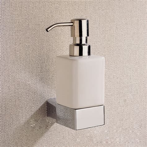 bathroom accessories soap holder chrome liquid soap dispenser holder with whole brass