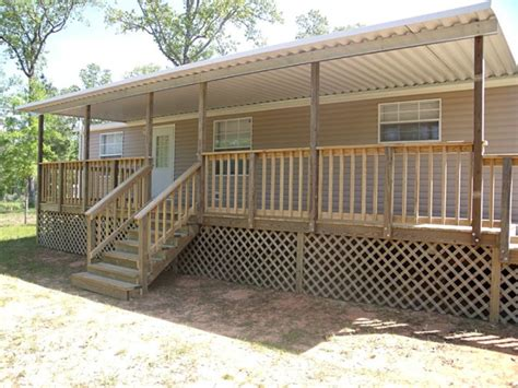 mobile home steps and decks serve in simple house