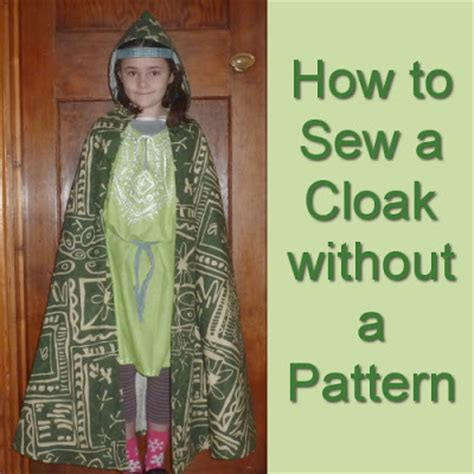 how to sew a cloak without a pattern