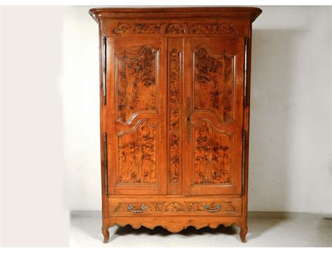armoire cherry wood armoire louis xv carved cherry wood burl elm bronze