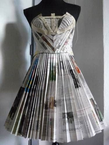 How To Make A Paper Dress To Wear - work in progress the newspaper dress clothing