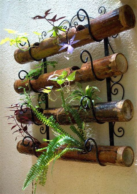 garden wall ornaments bamboo planters wall fence garden ideas