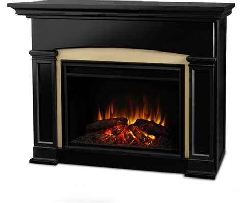 holbrook grand electric fireplace black traditional