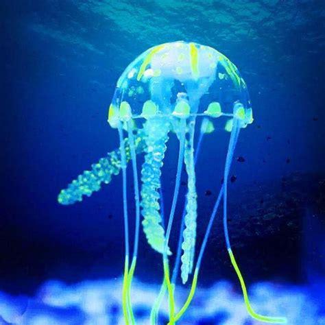 Glowing Jellyfish Dekorasi Hiasan Aquarium Glowing Jellyfish Fish Tank Aquarium Decoration Mini Submarine Ornamen Vet Equipment