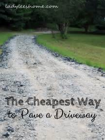 the cheapest way to pave a driveway s home