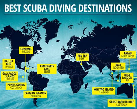 best diving locations in the world sea and cayman islands among the best spots in the