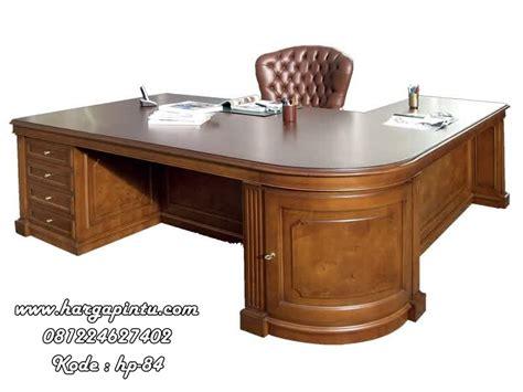 Meja Kantor Kayu Jati meja kantor leter l harga murah bandung jakarta bali