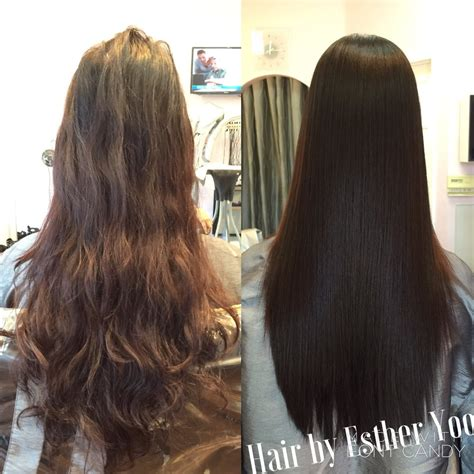japanese permanent hair straightening and perming home before after japanese straight perm yelp