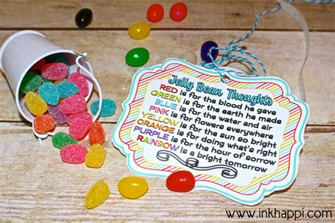 printable jelly bean name tags jelly bean thoughts for easter free printable gift tags