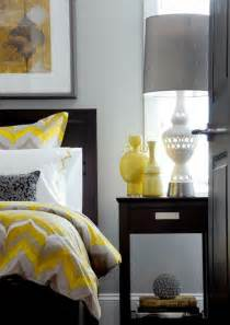 yellow and gray bedroom contemporary bedroom - Yellow White And Gray Bedroom