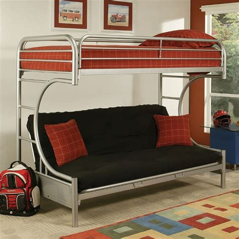 twin xl loft bed acme furniture eclipse twin xl over queen and futon bunk