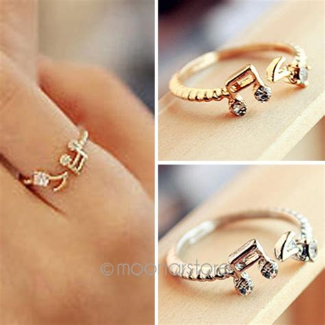 simple style finger ring note open